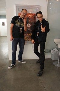 Samuel Douek, head of the Heavy Metal Film Festival, and Kenneth Thomas