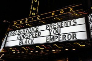 Godspeed marquee from way back in 2011